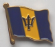 Barbados Country Flag Enamel Pin Badge